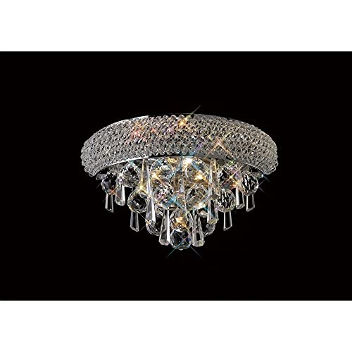 Inspired Diyas - Alexandra - Lámpara de pared pequeña 1 luz cromo pulido, cristal