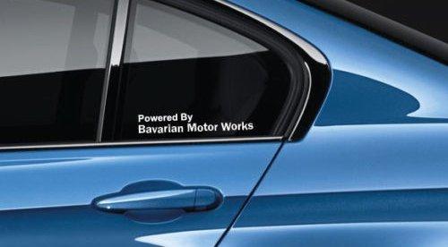 SUPERSTICKI Powered by Bavarian Motor Works Decal Sticker Logo M Power M3 M5 M6 M2 BMW Pair aus Hochleistungsfolie Aufkleber Autoaufkleber Tuningaufkleber von aus Hochleistungsfolie für alle gla