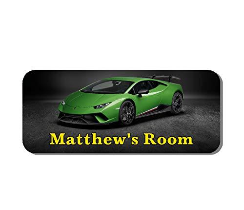 Lamborghini Super Voiture personnalisé pour chambre d'enfant plaque de porte (Ss30035)