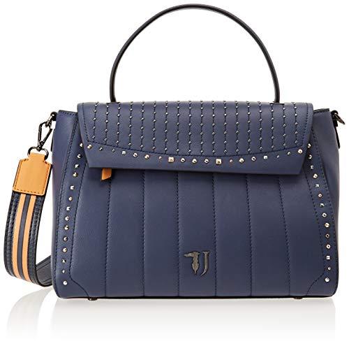 Trussardi Jeans 75B00504-9Y099999, Borsa a Spalla Donna, Blu, 36x36x16 cm (W x H x L)