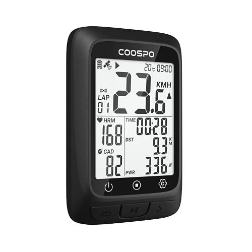 COOSPO BC107 Ciclocomputador GPS Bluetooth 5.0 Ant +, Computadora de Ciclismo con IP67 Impermeable, Bicicleta GPS para Bicicleta de Carretera MTB