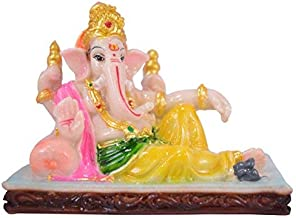 DORLIONA Saubhagya Global Anav God Ganesha Idol/Murti/Statue Decorative Showpiece Gift Item for Car Dashboard/Puja/Mandir ...