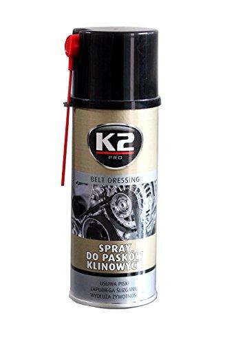 K2 Pro. Spray antideslizante para correas de transmisión de coches, sin chirridos, detiene el deslizamiento y protege contra la sequedad, 400ml