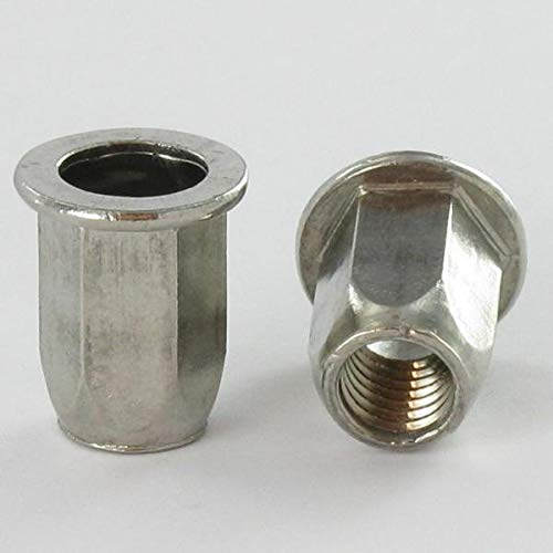 ECROU SERTIR INOX TETE PLATE HEXAGONAL M4