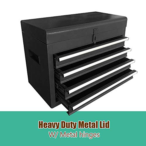 Large 5-Drawer Rolling Tool Chest -Metal Tool Box Organizer With Wheels and Drawers - Tool Cabinets and Storage For Garage Workshop (Black)