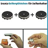 Seifen Plättchen für Magnet Seifenhalter, 3er Pack, aus S.S.201 Edelstahl, für magnetische Seifen...