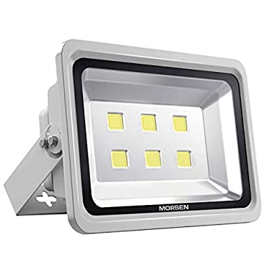 MORSEN LED Flood Light 300W, IP65 Waterproof Indoor Outdoor 6000K 30000lm Super Bright Security Wall Light for Garden, Basketball Football Court, Parking Lot, Playground, Lanscape