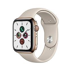 Apple Watch Series 5(GPS + Cellularモデル)- 44mmゴールドステンレススチールケースとストーンスポーツバンド - S/M & M/Lの商品画像