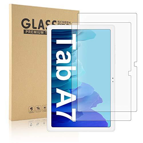SENGBIRCH 2 Stück Panzerglas kompatibel mit Samsung Galaxy Tab A7 2020, Bildschirmschutz 2.5D Folie für Samsung Tab A7 10.4 - T505/T500/T507
