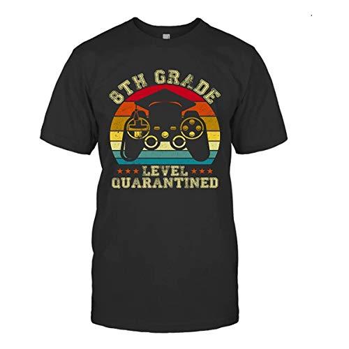 Divertente maglietta estiva 8 ° livello in quarantena gioco vintage maglietta regalo Nero  S