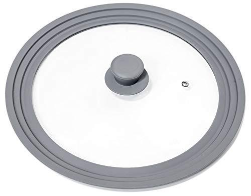 Oishii Lidmaster - Coperchio in Vetro Universale per padelle e pentole con Ø di 28, 30 e 32 cm