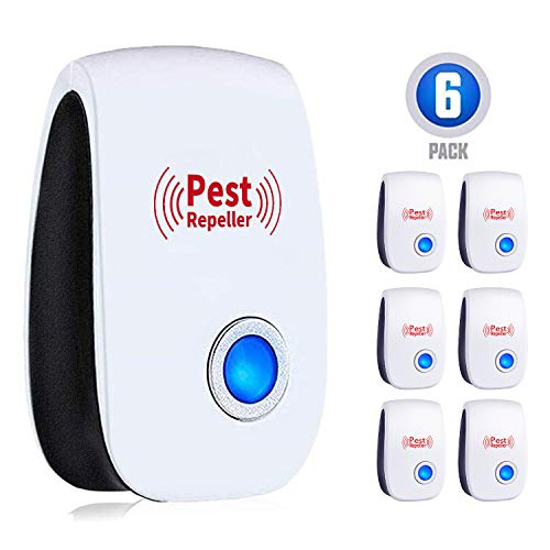 WahooArt Ultrasonic Pest Repeller 6 Packs,2020 Newest Pest Repellent Electronic Indoor Plug in for Insects, Mosquitoes, Mice, Ants, Roaches, Spiders, Bugs, Flies, Cockroach, pest control, Non-Toxic