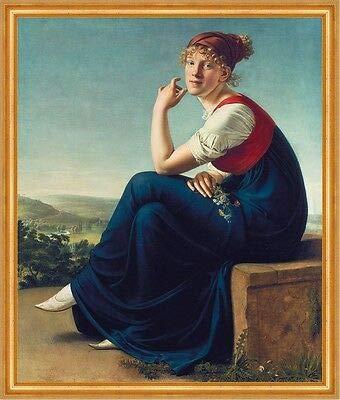 Portrait of Heinrike Dannecker Gottlieb Schick Mujeres Pañuelo Flores B A1 02138