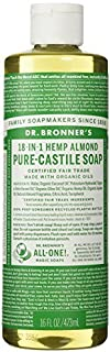 Organic Almond Castile Liquid Soap - 473ml by Bronner's Magic Soaps
