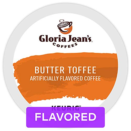 Gloria Jeans Coffees Butter Toffee, Single-Serve Keurig K-Cup Pods, Flavored Medium Roast Coffee, 72 Count