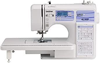 Brother HC1850 Sewing and Quilting Machine, 185 Built-in Stitches, LCD Display, 8 Included Feet