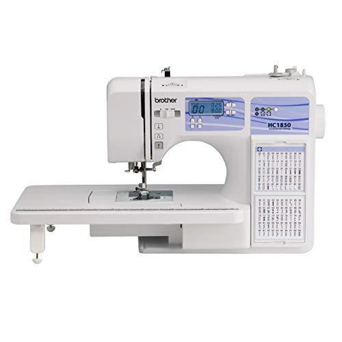 Brother Quilting Machine, HC1850 185 Built-in Stitches, LCD Display, 8 Included Sewing Feet