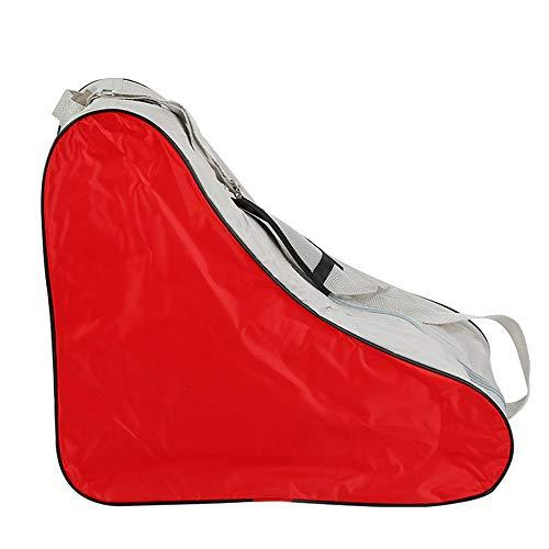 DAZISEN Schlittschuhe Tasche - Schlittschuhtasche zum Rollschuhen Inlineskates für Erwachsene, Rot, 42 * 20 * 39cm