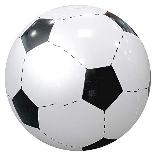 Uakeii Wasserball aufblasbar -Fußball- Ø 40 cm robuster riesen Strandball aufblasbar Beachball