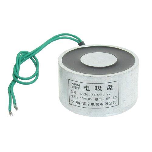 Sourcingmap a13032500ux0520 - Aspirado imán elevador electroimán 12 vcc 50 kg 110 libras 50x27mm eléctrica