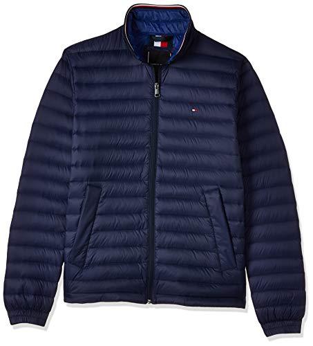 Tommy Hilfiger Herren Packable DOWN Jacket Jacke, Blau (Maritime Blue 431), Small (Herstellergröße:S)