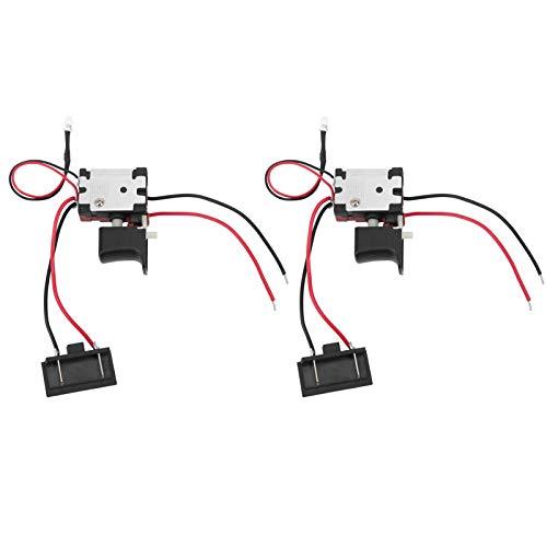KUIDAMOS Stufenlose Geschwindigkeitsregelung Elektrischer Schraubenschlüssel-Treiber Treiberplatine CW/CCW-Schalter Hauptschalter für 2 Stück zum Austausch der Bohrer