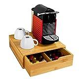SoBuy FRG70-N,ES Estante cafetera, Soporte para Cápsulas de Café, con 1 cajón, de Bambú