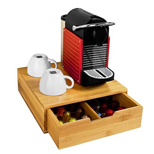 SoBuy Portacapsule nescafe dolce gusto Cassetto porta capsule in legno massello di bambù FRG70-N