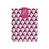 Roll'eat - Boc'n'Roll Tiles | Bolsa Merienda Porta Bocadillos, Envoltorio Reutilizable y Ecológico sin BPA, Rosa