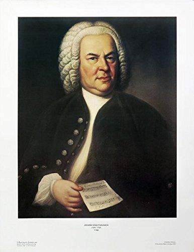 Johann Sebastian Bach: Vierfarbdruck des Öl-Gemäldes von 1748 von E. G. Haussmann (Poster und Bildtafeln)
