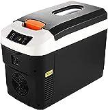 YDCG Refrigerador eléctrico para coche, mini refrigerador de coche, camión 24 V/12 V/220 – 240 V, nevera portátil, caja fría, viajes de conducción de larga distancia y camping (12 L, negro)