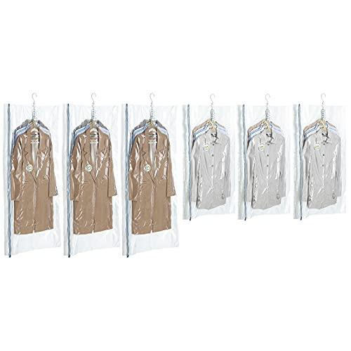 TAILI 圧縮袋 衣類圧縮袋 吊るせるあっしゅく袋コート収納袋 季節転換用 掃除機対応 省スペース 繰り返し利用可能 6枚組135*70*20*20cm(3個)+105*70*20*20cm(3個)