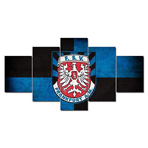 6Lv5Panel FSV Frankfurt football club Team Logo Prints on Canvas Home Decoration Poster 5 Panel/piece canvas prints wall art With frame-150 * 80CM Xmas Gift