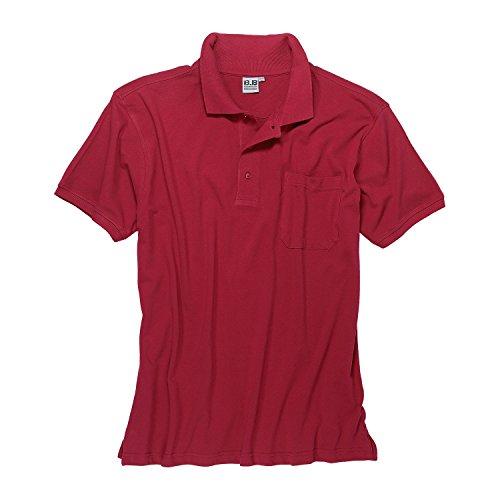 Herren Poloshirt I Polohemd I Basic Polo-Shirt Kurzarm rot 100% Baumwolle Big Size in Übergrößen 3XL - 8XL, Größe:8XL