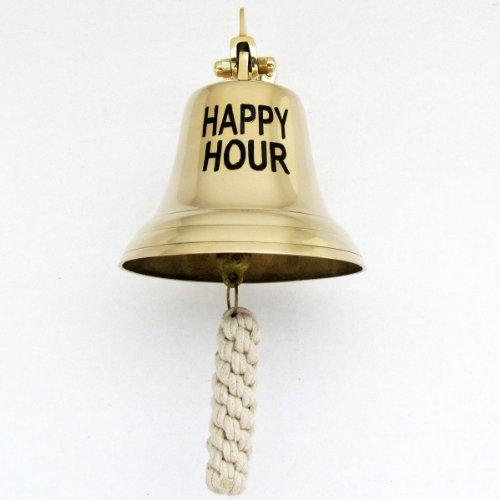 Große solide Messing-Glocke, Happy Hour
