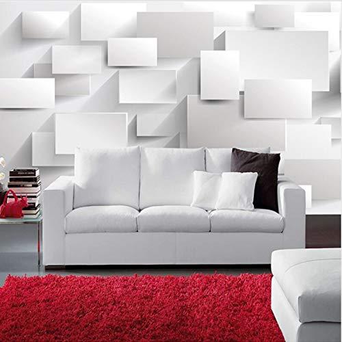 Preisvergleich Produktbild zhimu Moderne 3D DIY Große Wandtapete Wohnzimmer Sofa Box Cube Tapete Wandmalereien Kunst Schlafzimmer Tv Hintergrund Wandbild Tapete Gewohnheit 368cmx254cm