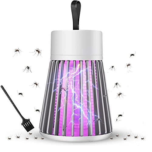 DHHSUK Bug Zapper, Lámpara Antimosquitos Electrico, 5W LED Lámpara Mata Insectos Impermeable...
