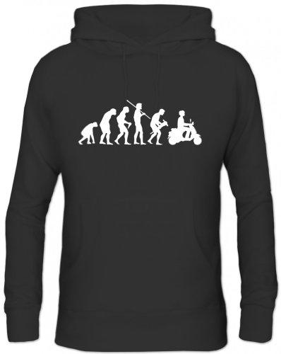 Shirtstreet, Evolution Motorroller, Herren Kapuzen Sweatshirt - Pullover S-3XL, Größe: XL,Schwarz