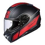オージーケーカブト(OGK KABUTO)バイクヘルメット フルフェイス AEROBLADE5 SMART(スマート) フラットブラックレッド (サイズ:M) 575304