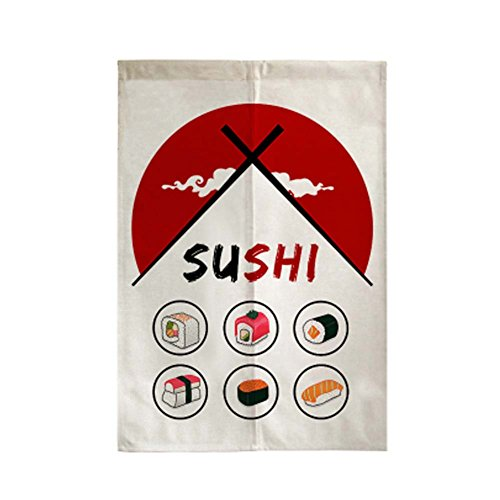 George Jimmy Delicate Door Curtain Japanese Restaurant Kitchen Curtain Hotel Sushi Bar Decoration, 01