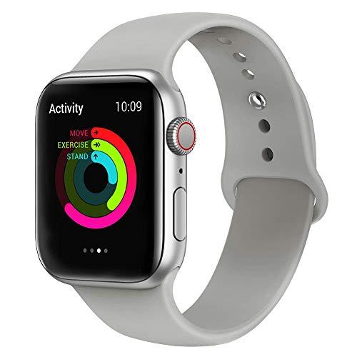 VIKATech Compatible Cinturino per Apple Watch Cinturino 44mm 42mm, Cinturino Morbido di Ricambio in Silicone per iWatch Series 4/3/2/1