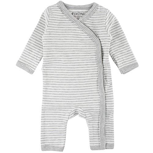 Fixoni Born Wholesuit Combinaison, Gris (Light Grey Melange 01-82), 58 (Taille Fabricant: 56) Mixte bébé