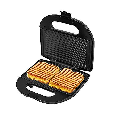 Sandwichera, acero inoxidable sandwichera panini, botón antideslizante, diseño de doble indicador, el diseño automático de control de la temperatura, el calentamiento rápido y fácil de limpiar, negro