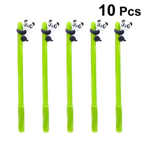 Toyvian, 10 penne giocose, penne a inchiostro gel con adorabili panda, cancelleria per la scuola e l'ufficio