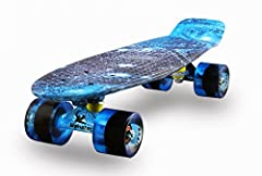 ★【The Meketec Advantage】-Let your skateboard unique. the 3.25 inch trucks with different color better than others skateboarder. ★ 【Performance】- 22.5 inch long x 6 inch wide deck, max load weight 200 lb, 60mm*45 pu smooth wheels, high speed ABEC-7 be...