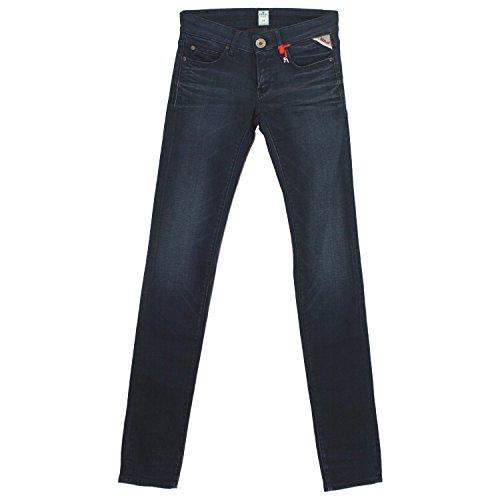 Replay, Rose Skinny, Damen Damen Jeans Hose Stretchdenim Darkblue Used W 27 L 32 [18366]