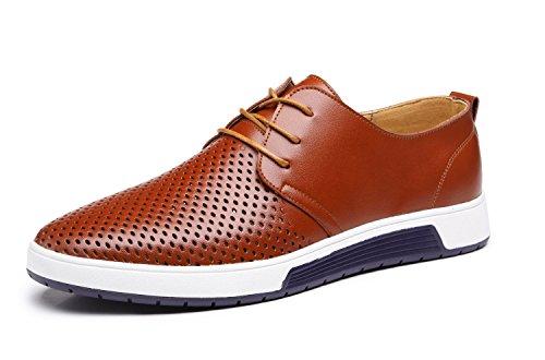 Zapatos de Cuero Hombre, Oxford con Cordones Brogue Vestir Derby Informal Negocios...