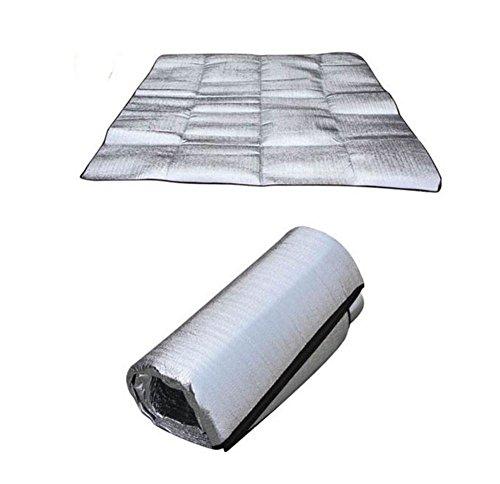 tapis de pique-nique en plein air humidité pad 300 * 300cm aluminium double face pad d'isolation feuille