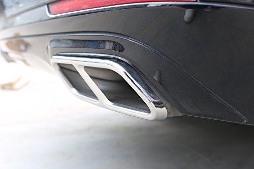 304 Edelstahl auspuff hinten dual Cover Trim Aufkleber für s klasse w222 Coupe r klasse w251 2010-2017 gl klasse x166 2013-2015