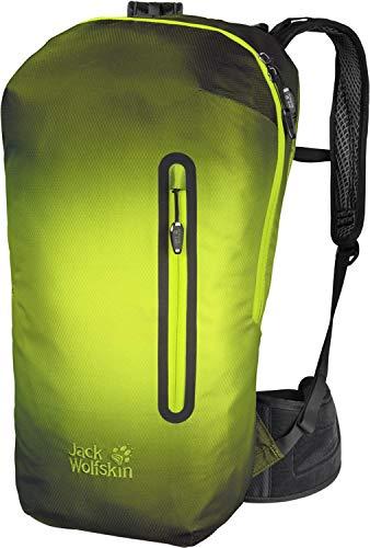 Jack Wolfskin Unisex 2008021 Halo-Action-Sportrucksack mit Regenschutz, vorbereitet für Wasserblase, 100% PFC-frei, 22 l, Corona Lime, Standard